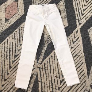 Women's Paige verdugo ankle white pant size 24